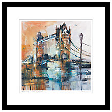 Buy Rob Wilson - Tower Bridge Framed Print, 59 x 59cm Online at johnlewis.com
