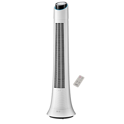 Image of NSA'UK TFRDC-50RC Rechargeable Tower Fan with Remote Control, White