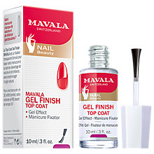 Buy MAVALA Gel Effect Nail Polish Top Coat, 10ml Online at johnlewis.com