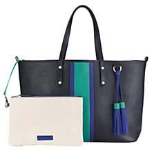 Buy Jigsaw Amelia Stripe Leather Shopper Bag Online at johnlewis.com