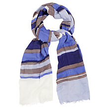 Buy Phase Eight Thea Striped Scarf, Sky Online at johnlewis.com