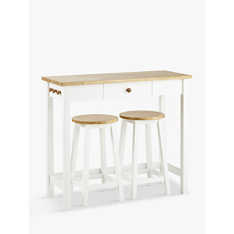 John Lewis Adler Breakfast Bar Table Amp 2 Stools Set Cream