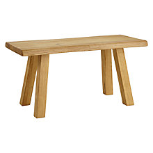 Buy John Lewis Croft Collection Glendale 2-Seater Dining Bench, Oak Online at johnlewis.com
