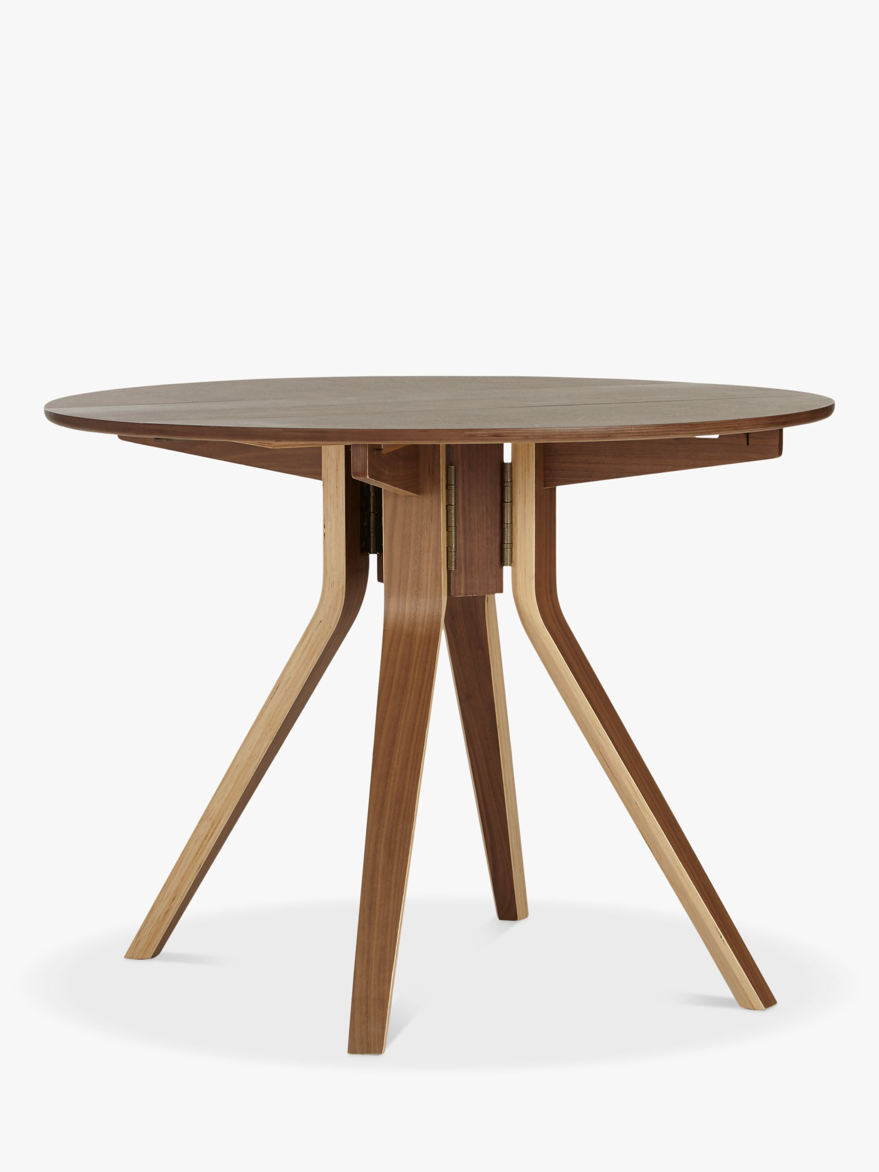 Wales & Wales for John Lewis John Lewis Radar 4-Seater Drop-Leaf Dining Table, Walnut