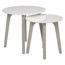 Buy John Lewis Dillon Nest of Tables, White Online at johnlewis.com
