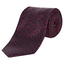 Buy Jaeger Floral Print Silk Tie, Navy Online at johnlewis.com