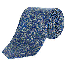 Buy Jaeger Woven Floral Pattern Silk Tie, Pale Blue Online at johnlewis.com