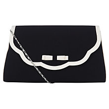 Buy Jacques Vert Scallop Edge Handbag, Black Online at johnlewis.com