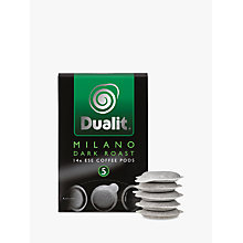 Buy Dualit 15130 Milano Dark Roast Coffee Pods, Pack of 14 Online at johnlewis.com