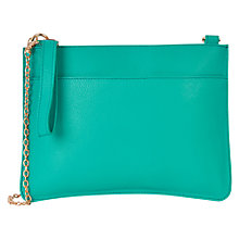 Buy Oasis Leather Stephanie Bag, Turquoise Online at johnlewis.com