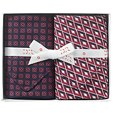 Buy Derek Rose Ruby Diamond Handkerchiefs, Pack of 2, Red Online at johnlewis.com