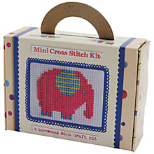 Buy Buttonbag Mini Elephant Cross Stitch Kit Online at johnlewis.com