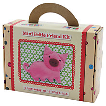 Buy Buttonbag Mini Pig Feltie Friend Craft Kit Online at johnlewis.com