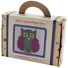 Buy Buttonbag Mini Owl Cross Stitch Picture Kit Online at johnlewis.com