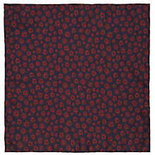 Buy JOHN LEWIS & Co. Shell Print Silk Pocket Square, Navy/Red Online at johnlewis.com