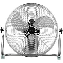 "Buy John Lewis 18"" Metal Floor Fan, Silver Online at johnlewis.com"