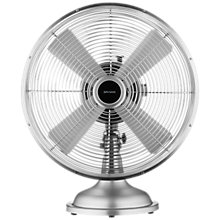 "Buy John Lewis 12"" Metal Desk Fan, Silver Online at johnlewis.com"