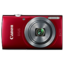 "Buy Canon IXUS 160 Digital Camera, HD 720p, 20MP, 8x Optical Zoom with 16x Zoom Plus, 2.7"" LCD Screen Online at johnlewis.com"