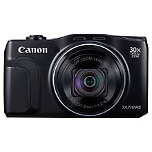 "Buy Canon PowerShot SX710 HS Digital Camera, HD 1080p, 20.3MP, 30x Optical Zoom, Wi-Fi, NFC, 3"" Screen Online at johnlewis.com"