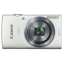 "Buy Canon IXUS 160 Digital Camera, HD 720p, 20MP, 8x Optical Zoom, 2.7"" LCD Screen Online at johnlewis.com"