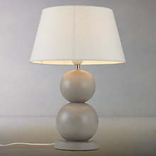 Buy John Lewis Ferris Two Ball Wooden Table Lamp Online at johnlewis.com