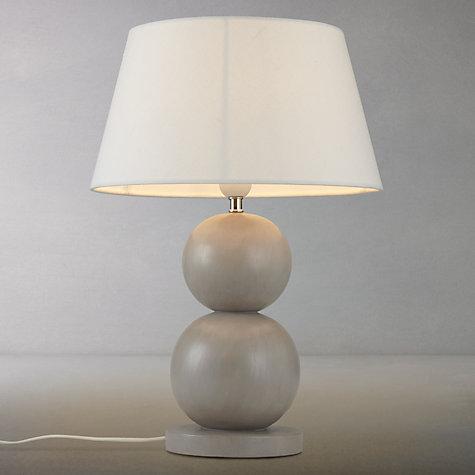 buy john lewis ferris two ball wooden table lamp john lewis. Black Bedroom Furniture Sets. Home Design Ideas