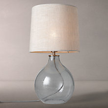 Buy John Lewis Croft Collection Amos Dimpled Glass Table Lamp, Blue Online at johnlewis.com