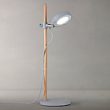 Buy John Lewis Bret LED Task Table Lamp, Grey Online at johnlewis.com