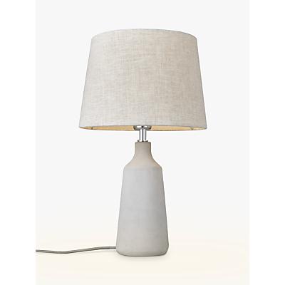 John Lewis Croft Collection Linney Concrete Table Lamp