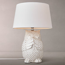 Buy John Lewis Oliver Ceramic Owl Table Lamp Online at johnlewis.com