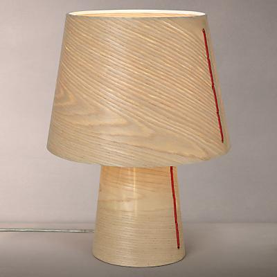 House by john lewis marny wood veneer table lamp
