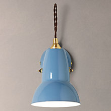 Buy Anglepoise Original 1227 Brass Wall Light, Dusty Blue Online at johnlewis.com