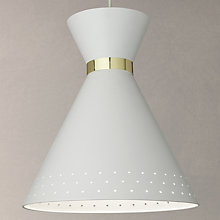 Buy John Lewis Apex Cone Pendant Ceiling Light, White Online at johnlewis.com