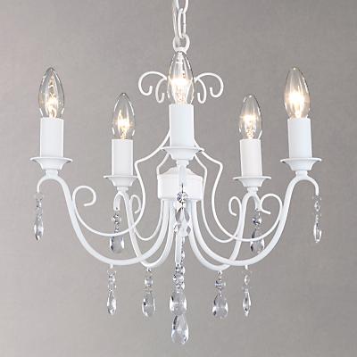 John Lewis Freya 5 Light Ceiling Pendant, White