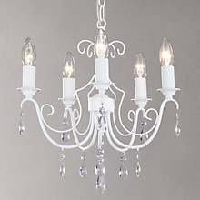 Buy John Lewis Freya 5 Light Ceiling Pendant, White Online at johnlewis.com