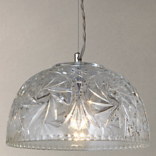 Buy John Lewis Kennedy Cut Crystal Pendant Online at johnlewis.com