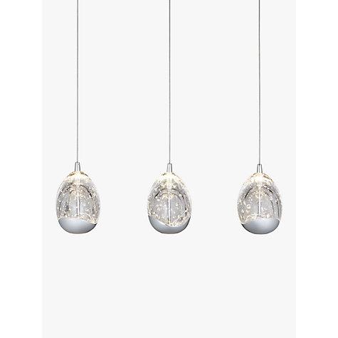 buy john lewis 3 droplet led pendant ceiling light chrome online at