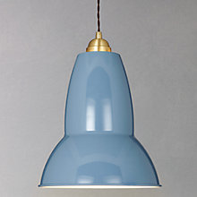Buy Anglepoise Large 1227 Brass Pendant Light, Blue Online at johnlewis.com