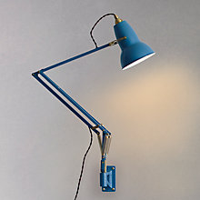 Buy Anglepoise Original 1227 Brass Wall Mounted, Dusty Blue Online at johnlewis.com