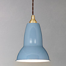 Buy Anglepoise Small 1227 Brass Pendant Light, Blue Online at johnlewis.com