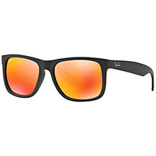 Buy Ray-Ban RB4165 Justin Sunglasses, Black/Orange Online at johnlewis.com