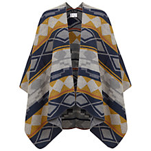 Buy Miss Selfridge Diamond Cape, Yellow Online at johnlewis.com