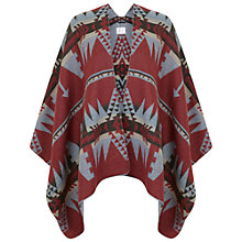 Buy Miss Selfridge Aztec Cape, Red Online at johnlewis.com
