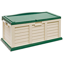 Buy Suntime Medium Cushion Storage Chest and Bench, Cream Online at johnlewis.com