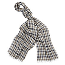 Buy Aquascutum Hilson Check Cashmere Scarf, Vicuna Online at johnlewis.com