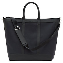 Buy Reiss Roma Textured Tote Bag, Navy/Black Online at johnlewis.com