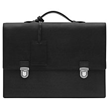 Buy Reiss Patas Leather Briefcase, Black Online at johnlewis.com