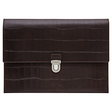 Buy Reiss Tamerin Textured Leather Document Holder, Dark Brown Online at johnlewis.com