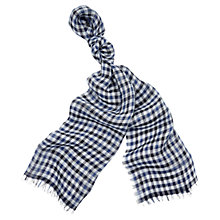 Buy Aquascutum Denis Club Check Linen Scarf Online at johnlewis.com