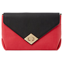 Buy Dune Ediamond Colour Block Turnlock Envelope Clutch Bag, Pink Online at johnlewis.com